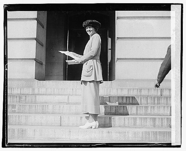 Catherine Flanagan of Connecticut Delivers Her State's Suffrage Ratification to the State Department. 1920.  Library of Congress .