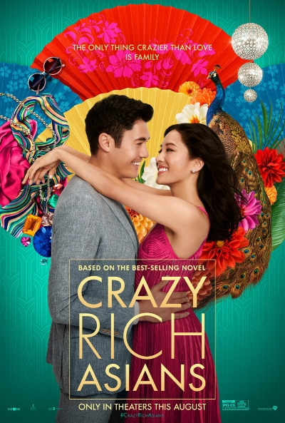 Movie poster for  Crazy Rich Asians  (2018) starring Henry Golding and Constance Wu.