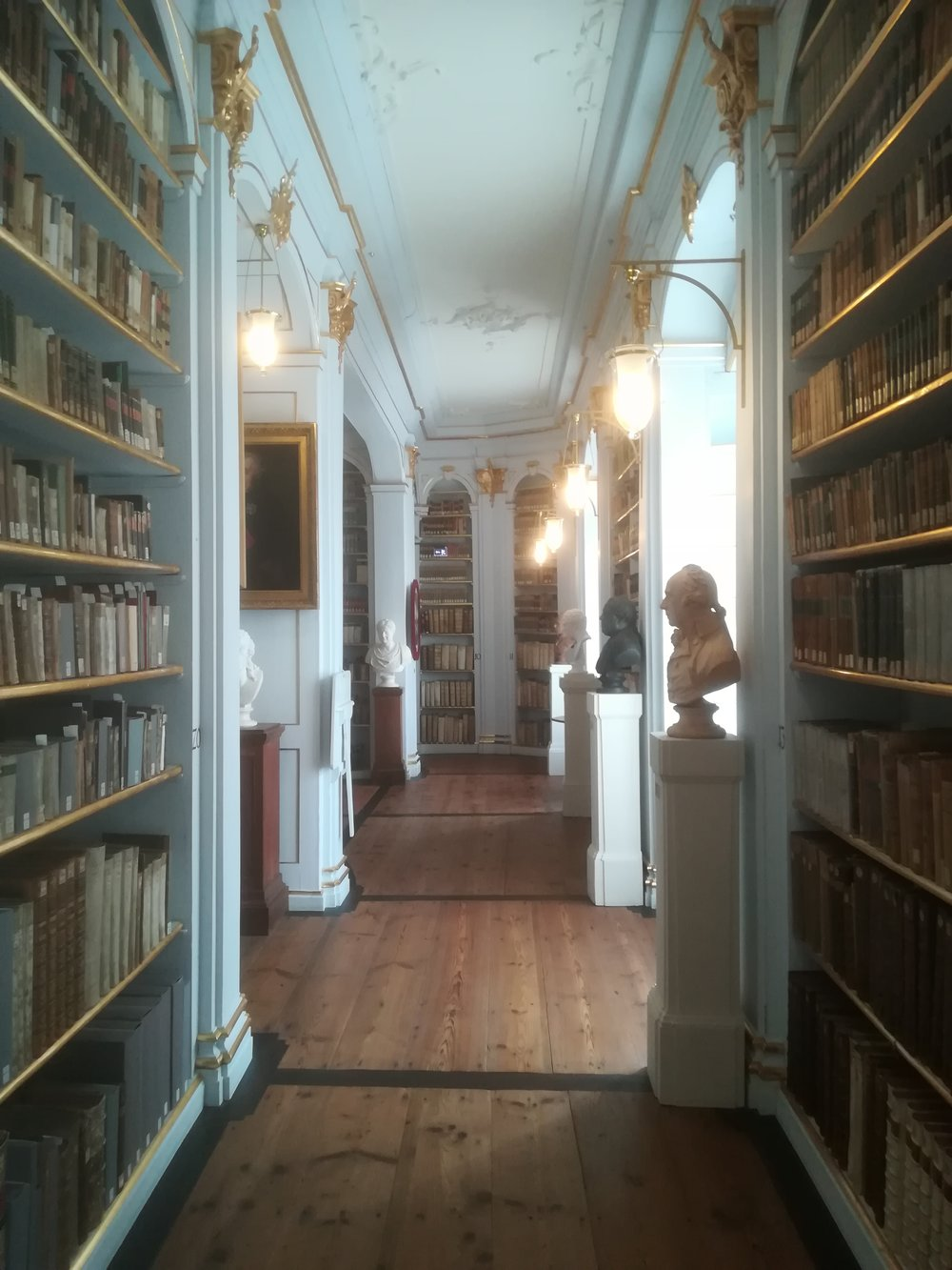 The Anna Amalia Library in Weimar - Too pretty to be real (I wish the actual German archives would all look like this one…)