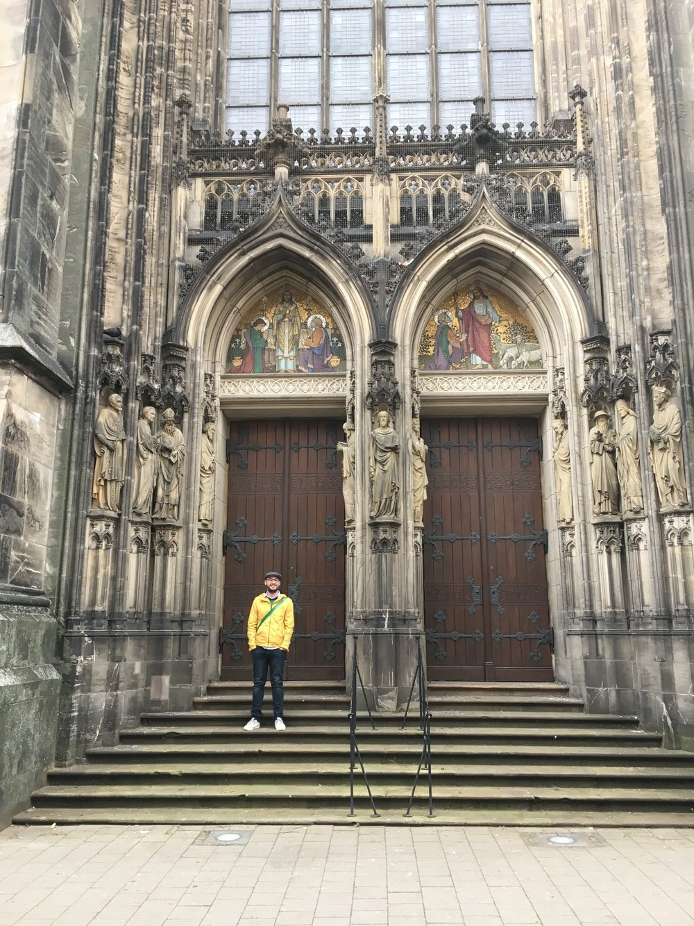 The author on the steps of the Münster.
