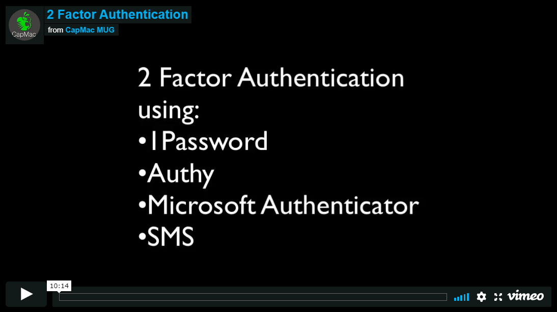 Using Two-Factor Authentication [Video] — CapMac