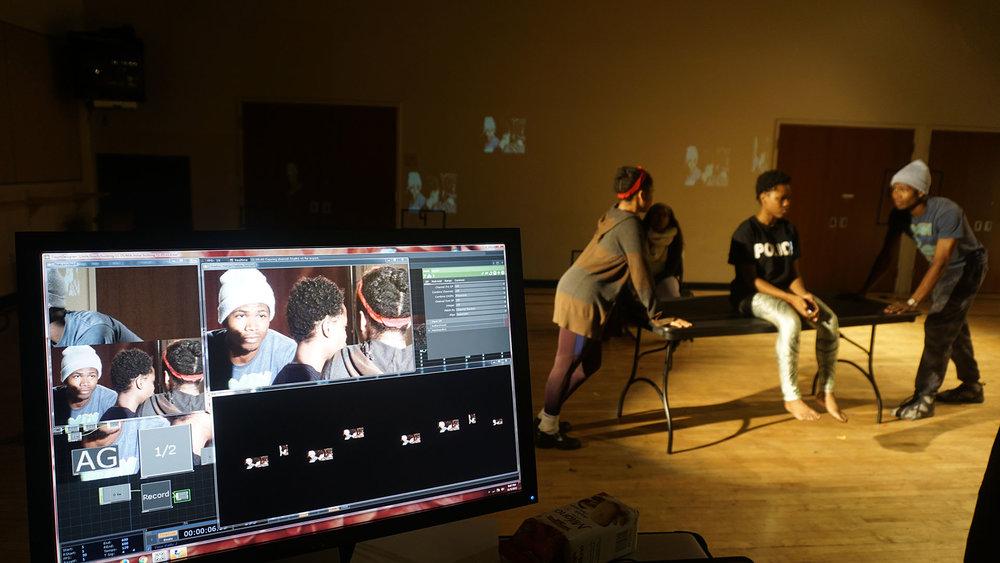 integrating media during rehearsal