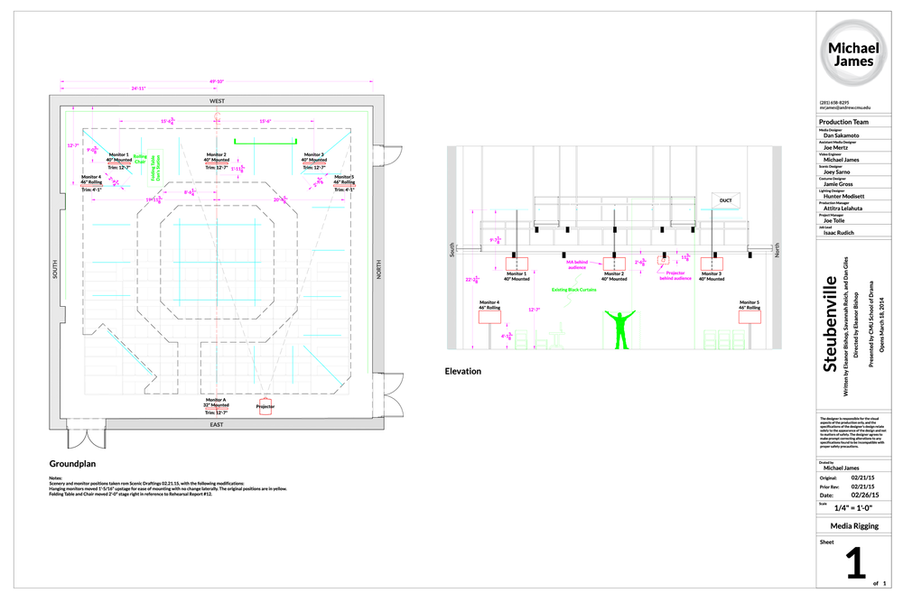 Steubenville Media Groundplan & Elevation (role: Video Engineer)