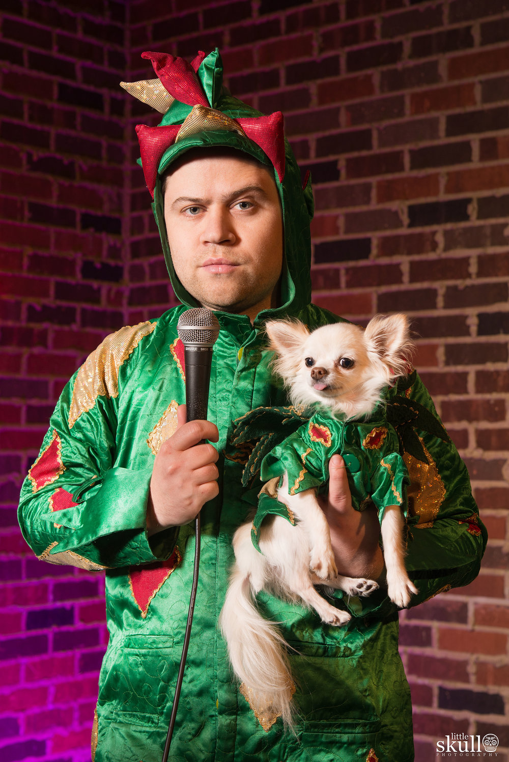 Piff The Magic Dragon on Stage with Mr. Piffles by Little Skull Photography