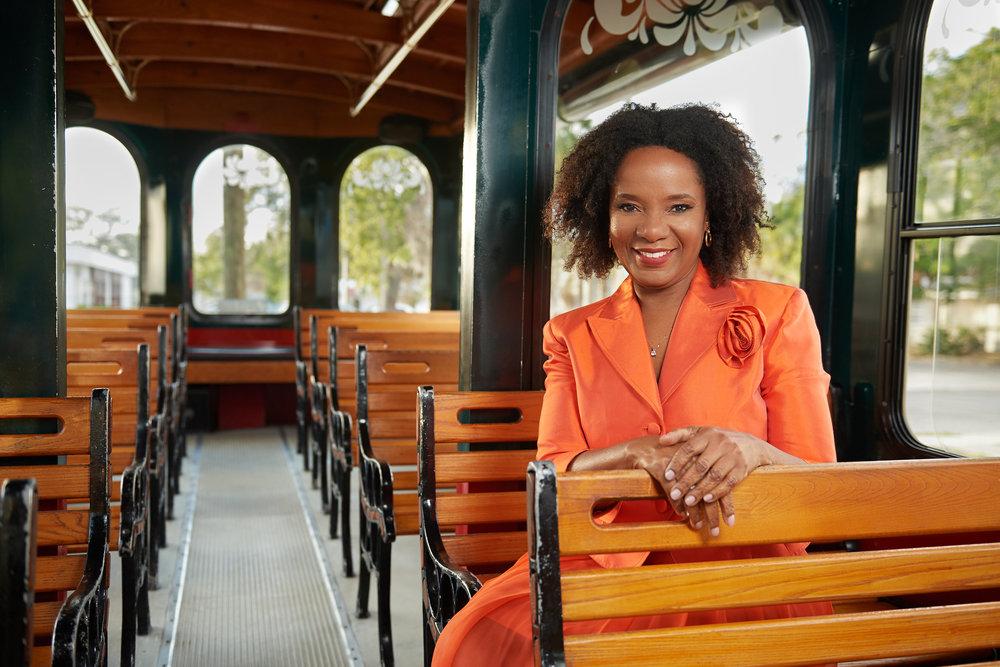On Location Portrait of Vickie Oldham for Sarasota Magazine's Unity Award Winners