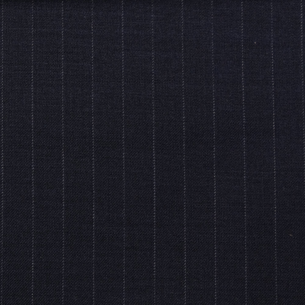 020 Navy Chalk Stripe Super 120's Wool