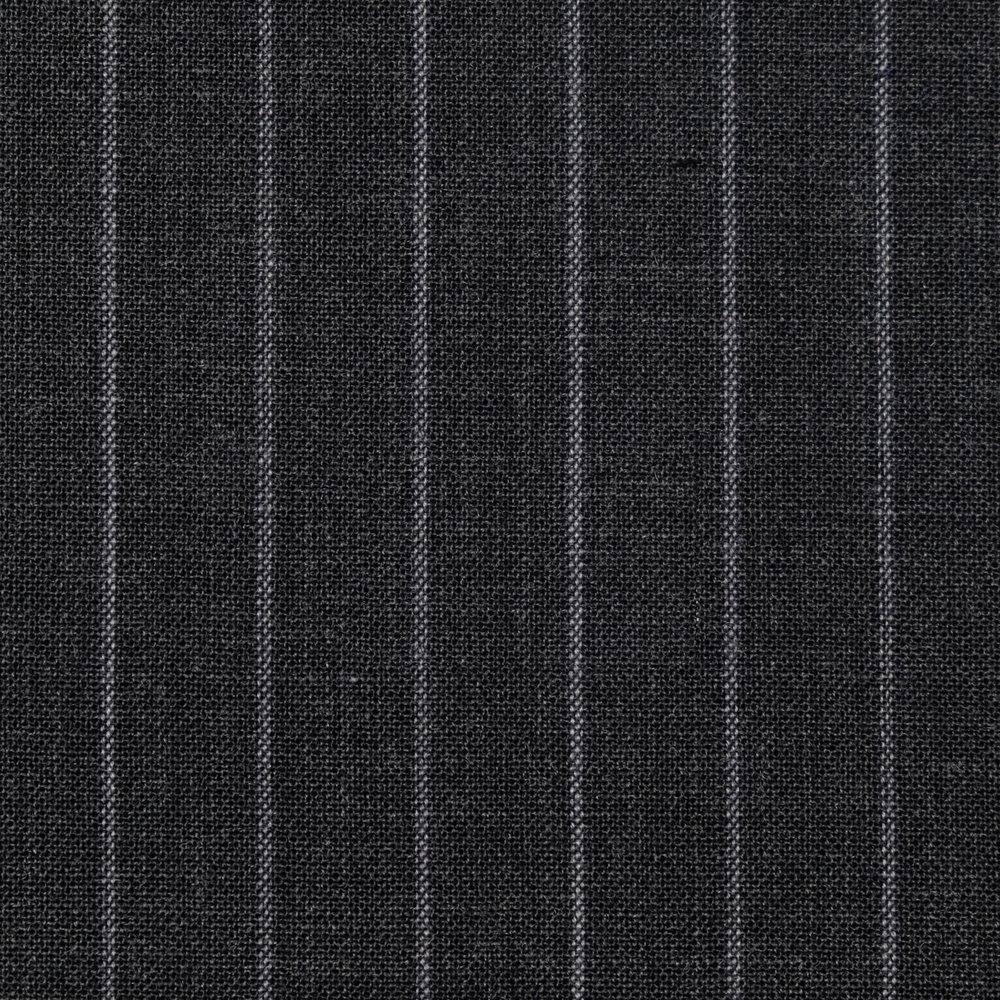043 Grey Chalk Stripe High Twist Wool