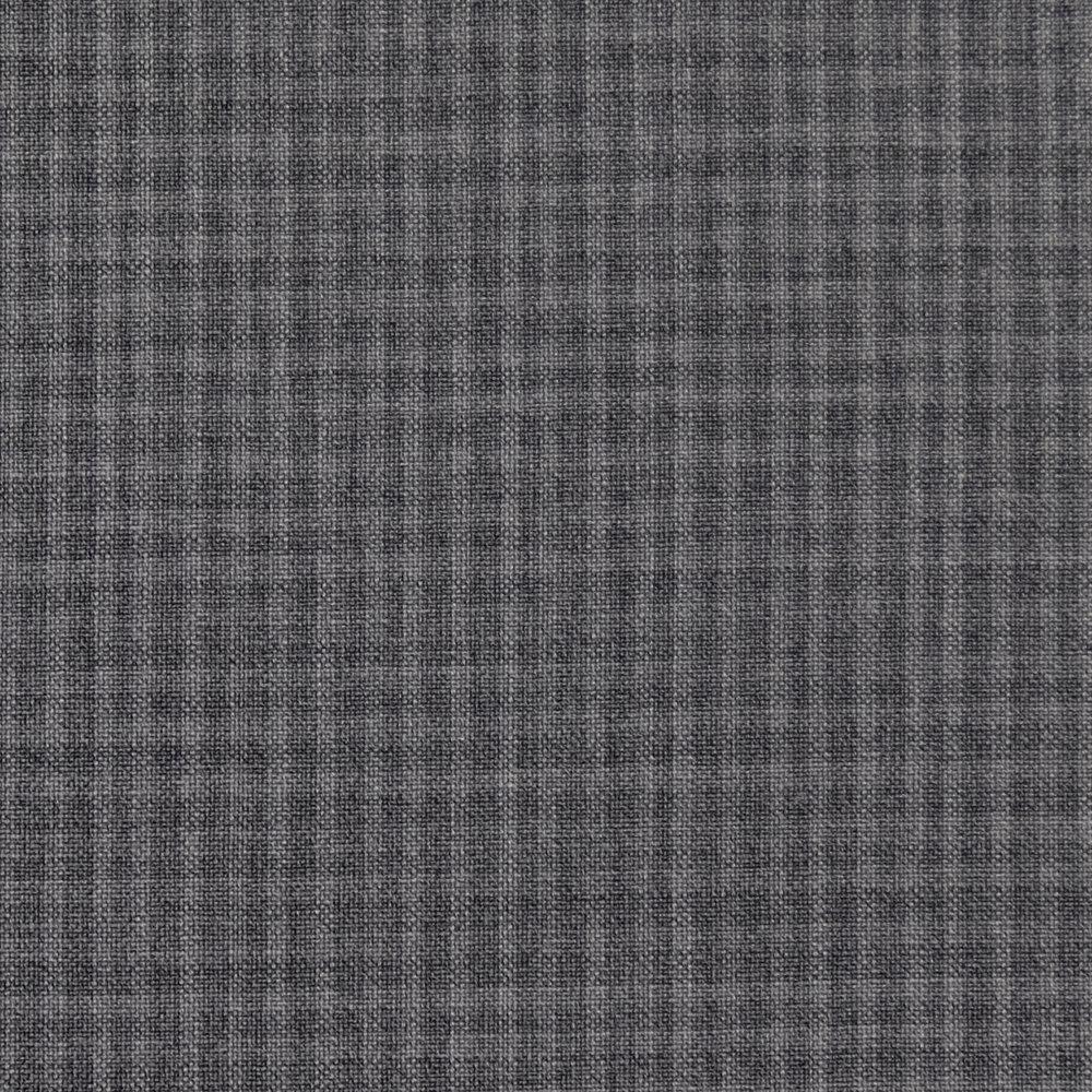 048 Grey Micro Check Superfine Merino
