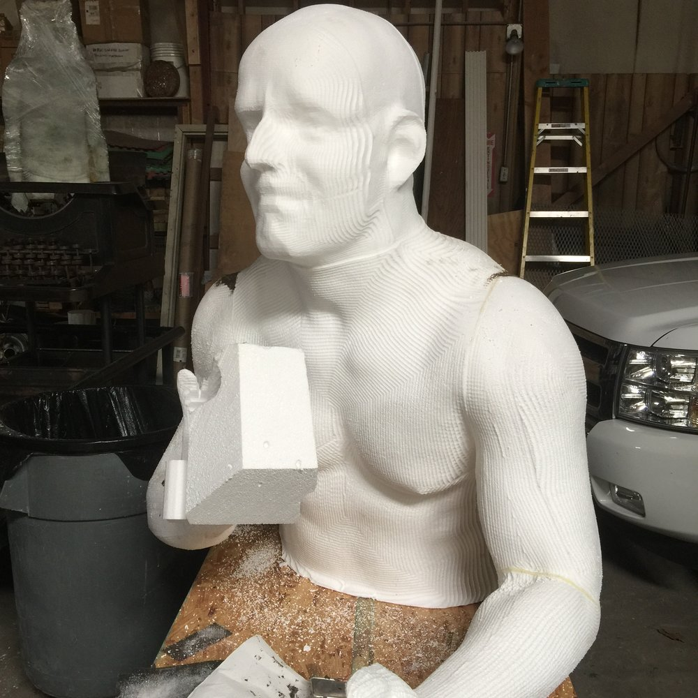 Sisyphus almost ready for oil clay.