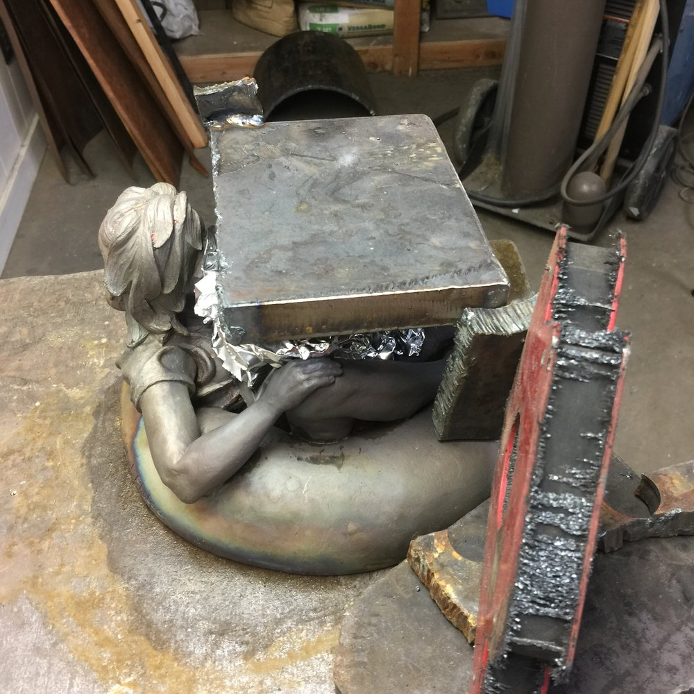 Building a tool to flatten the sculpture