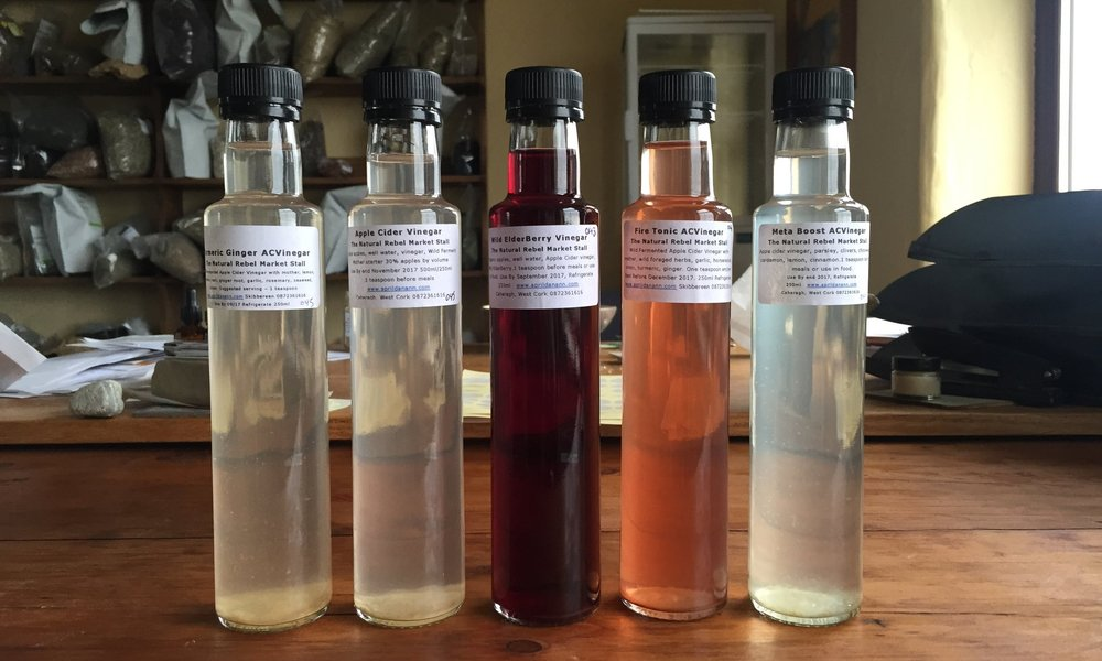 A selection of Rebel Health Vinegars