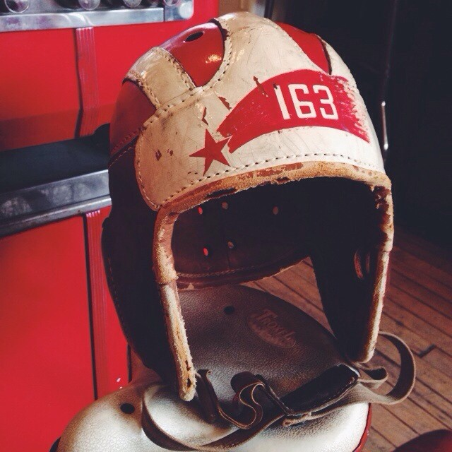 Antique football helmet 1930's-40's.