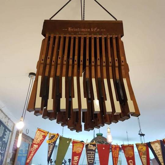 SOLD   Piano Chandelier made from a 100 year old Heintzman & Co. piano. One of a kind!
