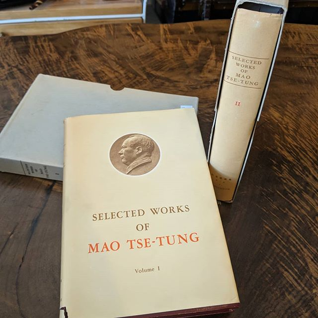 Volumes 1 & 2 of the Selected Works of Mao Tse-Tung. Both are first editions of the English Translation of the second Chinese edition, published by the People's Publishing House, Peking, in April 1960. #vintagebooks #chairmanmao #englishtranslation #junctionto