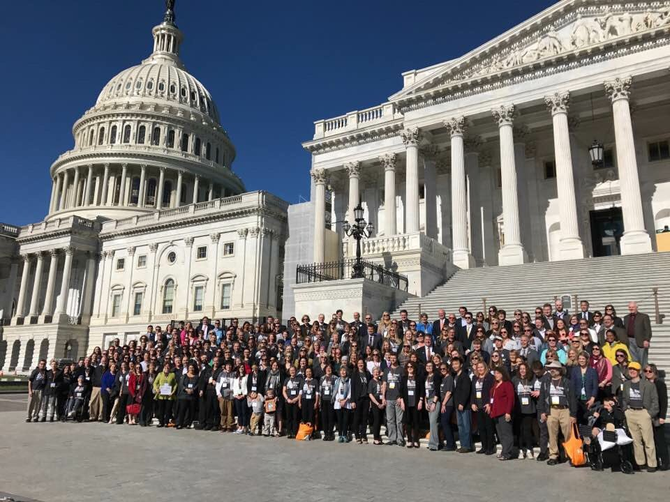Brain tumor research advocates from all over the nation converged on the Hill to support medical research appropriations and to speak in favor of the Childhood Cancer STAR Act. Photo courtesy of the National Brain Tumor Society.