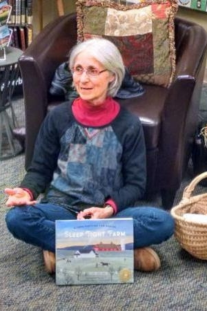 "Eugenie Doyle pictured above sharing her latest book project ""Sleep Tight Farm"" at Phoenix Books"