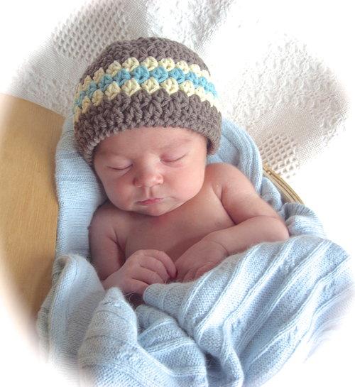 Classic Baby Boy Beanie Hat Crochet Pattern 1 Lisa Corinne Crochet
