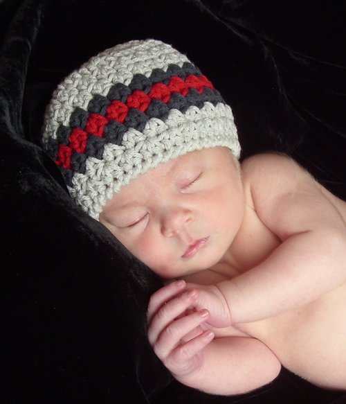 Classic Baby Boy Beanie Hat, Crochet Pattern, 1 — Lisa Corinne Crochet