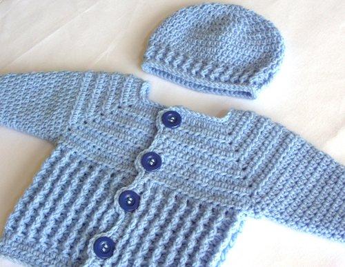 Baby Boy Sweater And Hat Crochet Pattern 47 Fp Bp Lisa Corinne