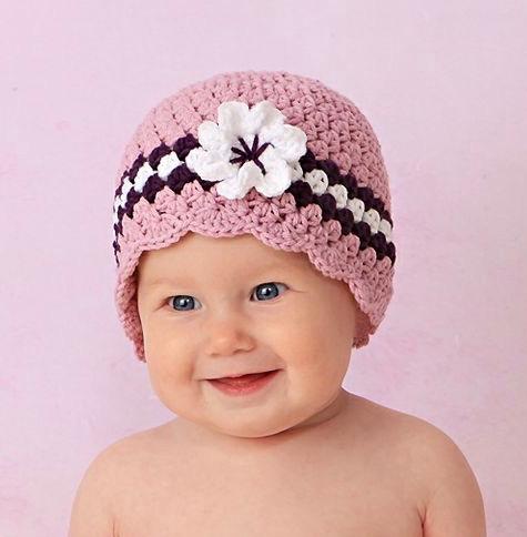 Baby Girl Hat With Flower Crochet Pattern 4 Lisa Corinne Crochet