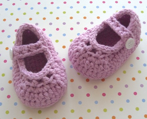 79a61cc22bb67 Mary Janes Girl Baby Booties, Shoe Crochet Pattern, 5