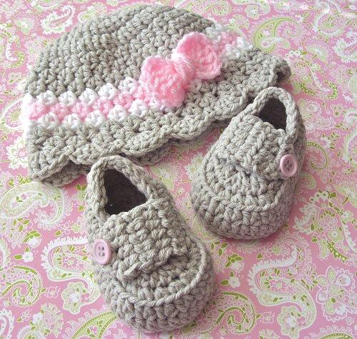 Baby Girl Hat Baby Girl Loafers Set Crochet Pattern 9 Lisa