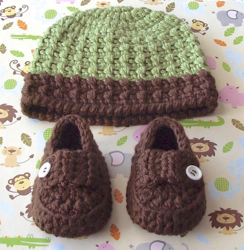 Baby Hat Baby Booties Crochet Pattern Baby Gift Set 16 Lisa