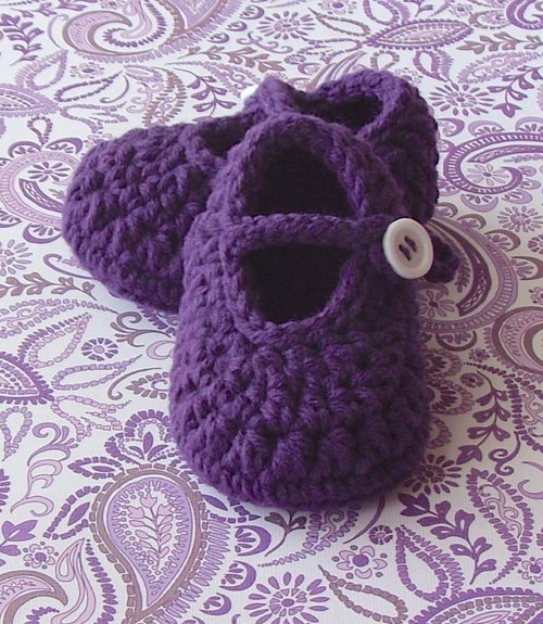44bf4f7d90ec3 Girl Baby Booties Crochet Pattern, Mary Janes, 28