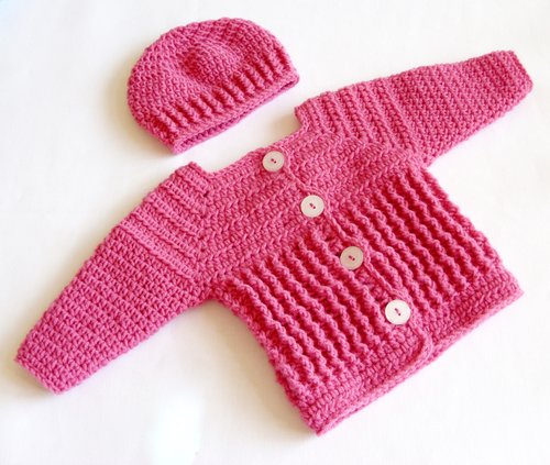 Baby Girl Sweater And Hat Set Crochet Pattern 60 Lisa Corinne Interesting Baby Girl Crochet Patterns