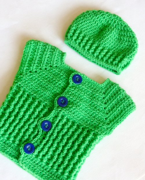 Baby Boy Sweater Vest And Hat Set Crochet Pattern 49 Lisa