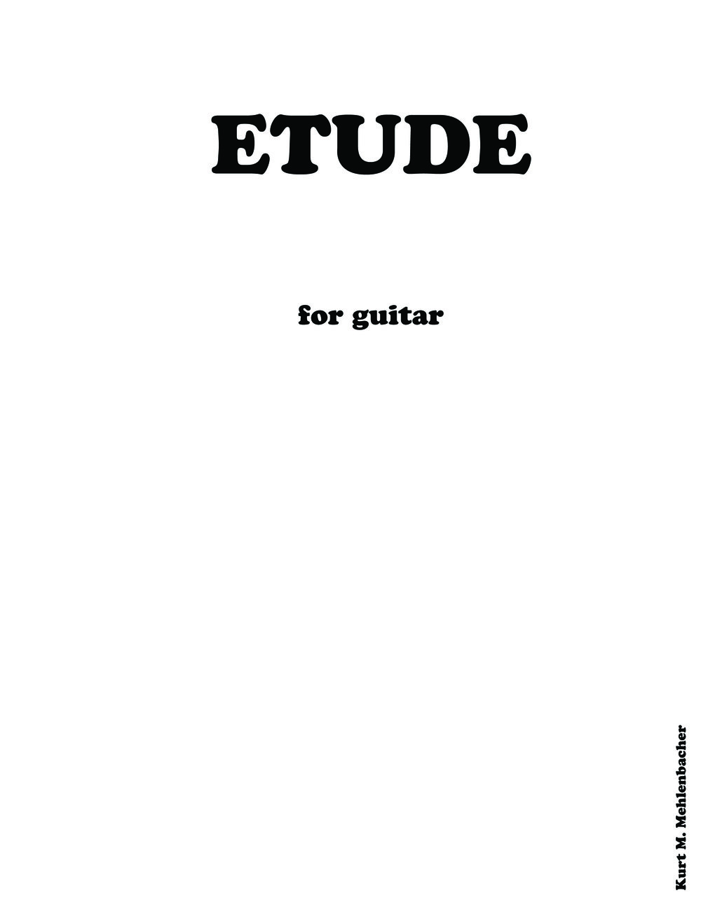 Etude       for guitar