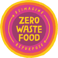 Zero Waste Food: Reimagine . Repurpose Logo