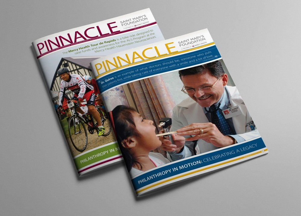 Newsletter Design •  Saint Mary's Foundation Pinnacle