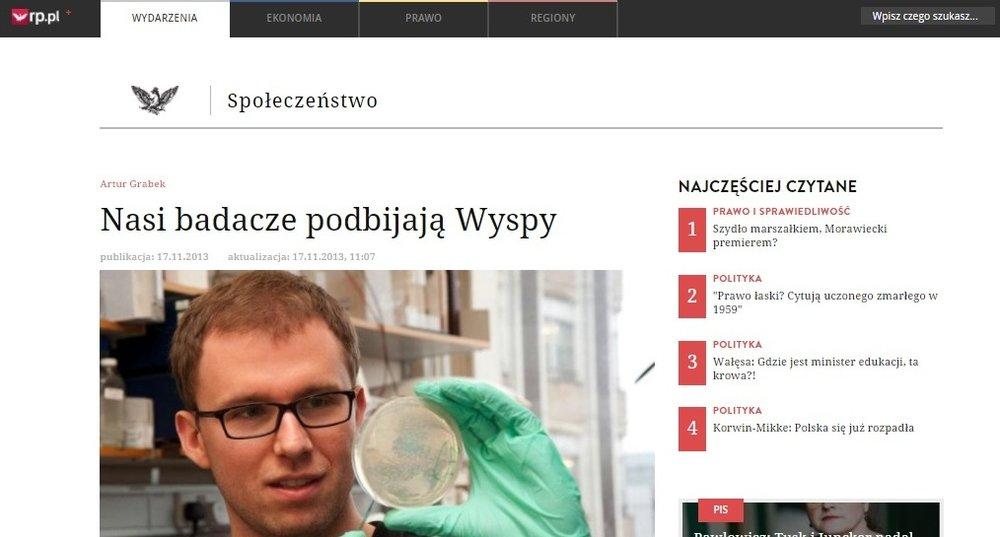 Nasi badacze podbijają Wyspy - rp.pl