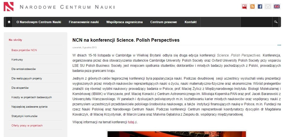 NCN na konferencji Science. Polish Perspectives - ncn.gov.pl