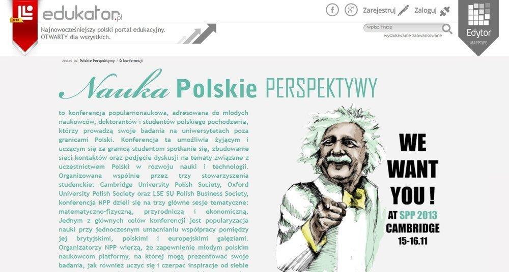 Nauka: Polskie Perspektywy - O konferencji - edukator.pl