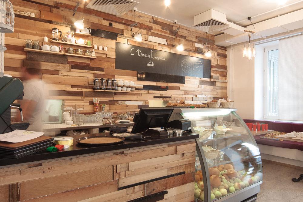 Интерьер кафе для сотрудников АО Северсталь