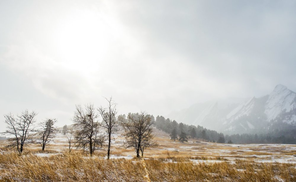 Photographer:  Alec Kostovny   Country:  USA  Title:  White Haze on the Flatirons