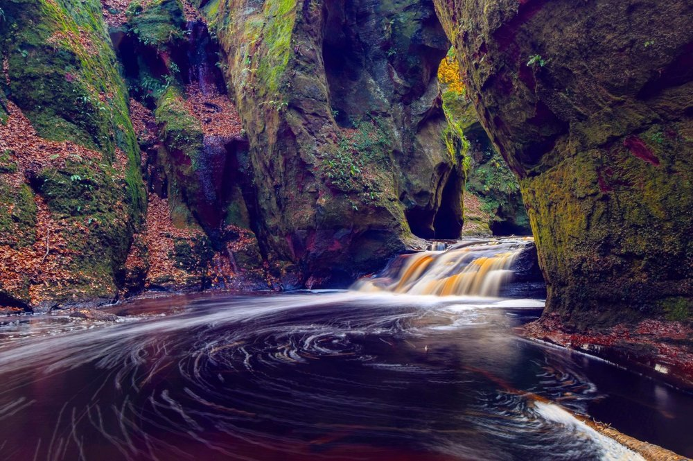 Photographer:   Caryn McWhirter   Country:  United Kingdom  Title:  The Devil's Pulpit, Finnich Glen, Scotland