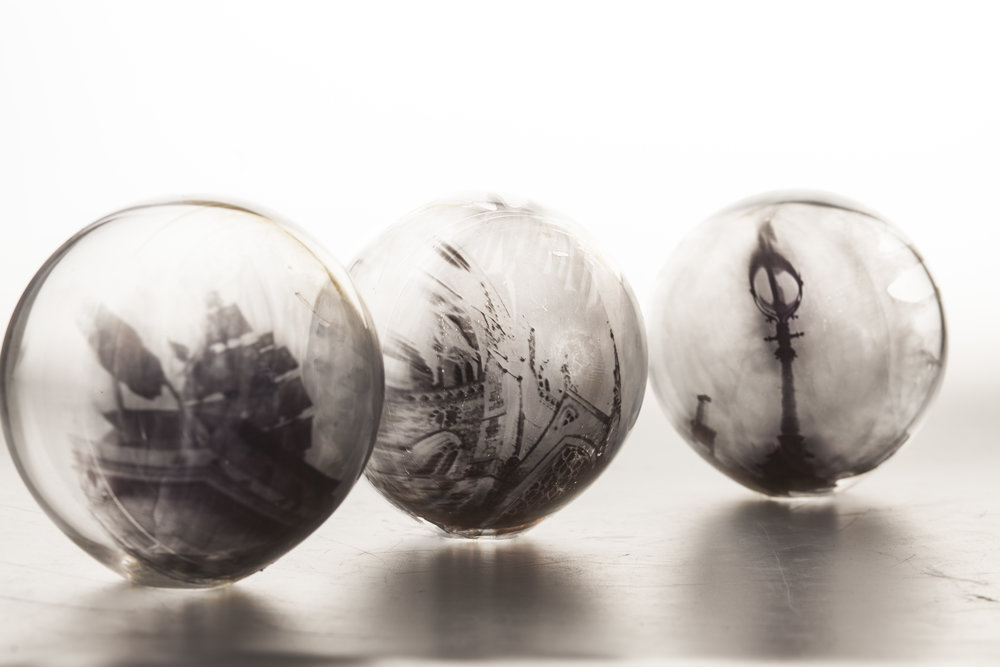 Wet Plate Collodion Orbs by Faye Griffiths