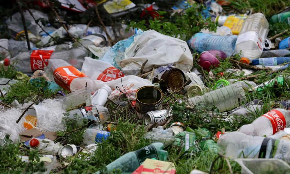 We take Earth's materials, turn them into stuff which we use for a while, then throw away. Photograph: Gareth Fuller/PA