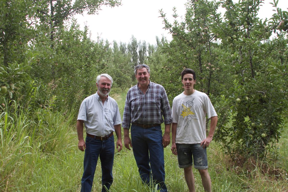 Julio Domingo Garcia a regional forester, along with Sandro Saralegui and his son toured me through their organic orchards and silvopasture.
