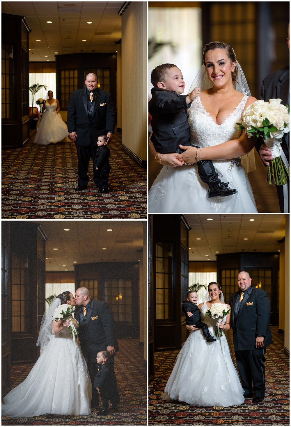 First looks are awesome especially when time constraints are a big factor. Normally I like to do first looks outdoors with natural light but that's not always an option. Here we had a first look in the very same hotel where she got ready and look how happy  they are to see each other,