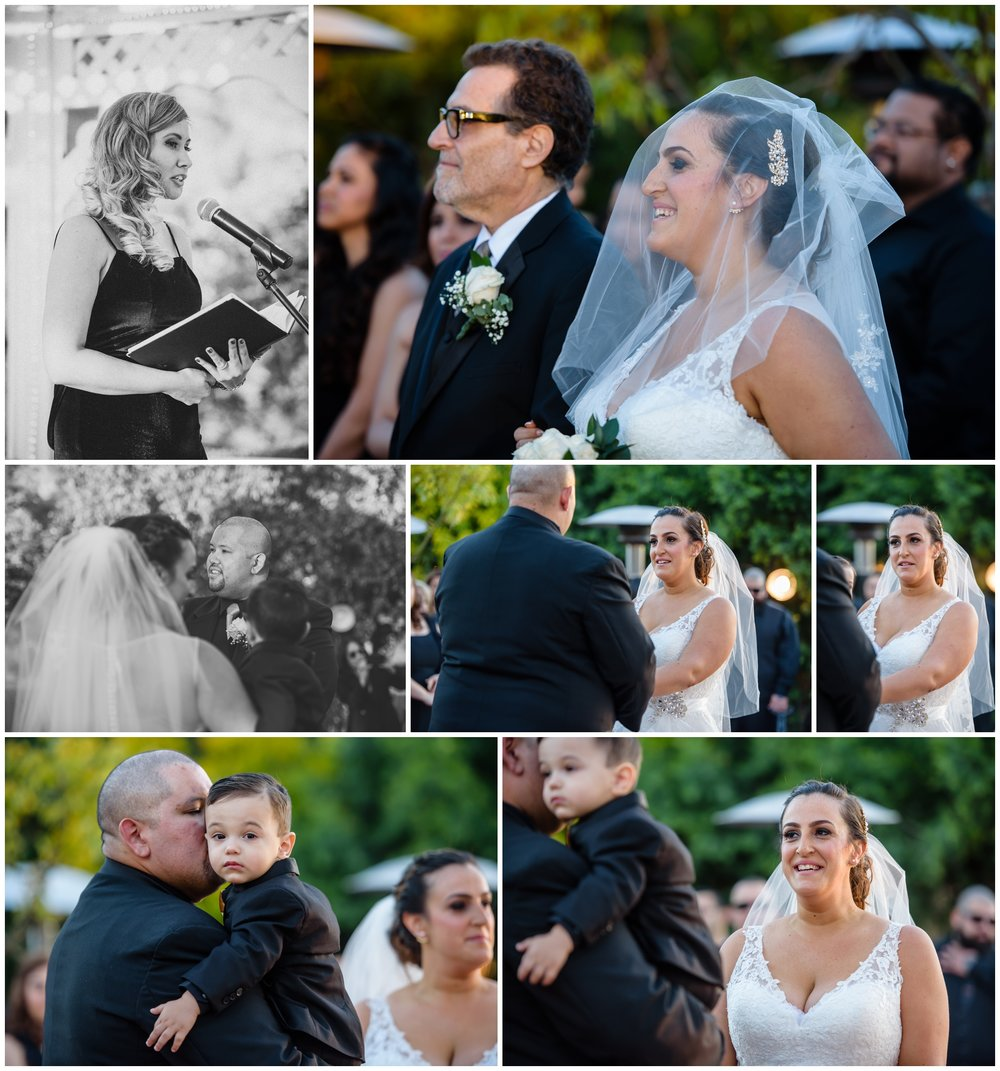 Our favorite part about capturing these ceremony photos are the emotions on the bride and grooms face. They are so happy for this day to finally come. We got lucky for the most part in that the sun was not blinding everyone. I managed to find the angles that would look the best with the darkest backgrounds. I love how the photos turned out!