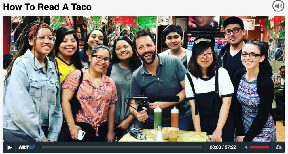 Click through to hear Steve and a Taco Literacy class on Dan Pashman's    Sporkful  podcast!