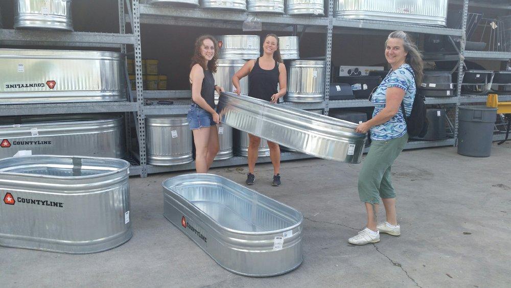 Garden trough shopping with Julia Warden, Emily Horowitz, and Thea French.