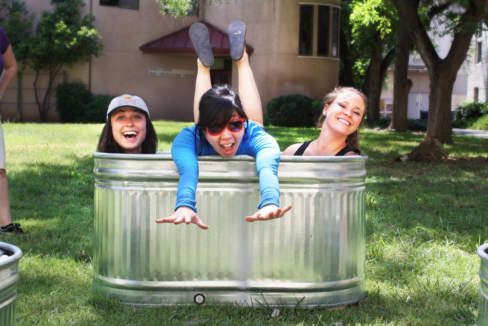 From left to right. Bethany Celio, Sahoko Yui, Julia Warden