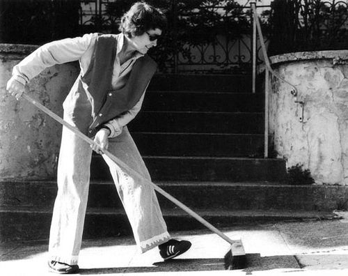 Image: Jo Hanson, Art That's Sweeping the City, 1980. Photograph by Jim Weeks. Courtesy of Dr. Leni V Reeves and Zack Schlesinger. This research was a collaborative project with faculty from UC Davis and Cal Poly, SLO.