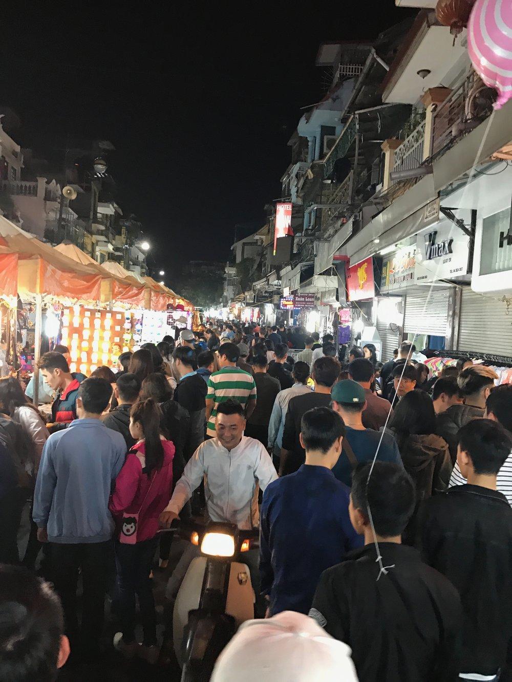 Saturday night at the Night Market