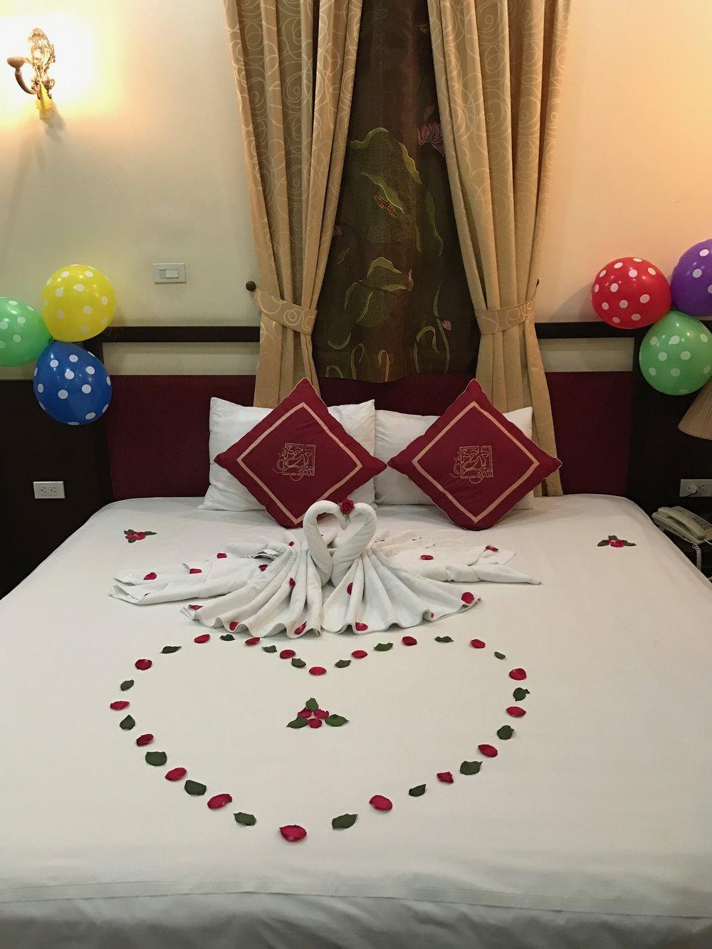 Honeymoon suite at the Posh Hotel